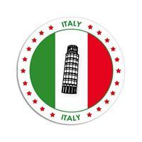 Shoppartners Italie sticker rond 14,8 cm