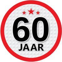 Shoppartners 60 jaar sticker rond 15 cm