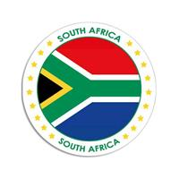 Shoppartners Zuid-Afrika sticker rond 14,8 cm