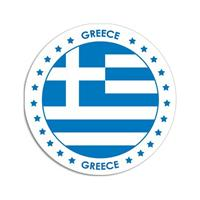 Shoppartners Griekenland sticker rond 14,8 cm