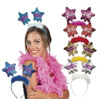 Bellatio Happy Birthday glitter diadeem donkerblauw