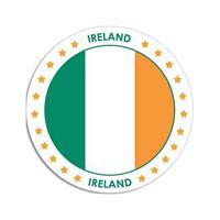 Shoppartners Ierland sticker rond 14,8 cm