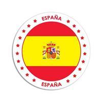 Shoppartners Spanje sticker rond 14,8 cm