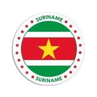 Shoppartners Suriname sticker rond 14,8 cm