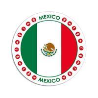 Shoppartners Mexico sticker rond 14,8 cm