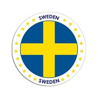 Shoppartners Zweden sticker rond 14,8 cm