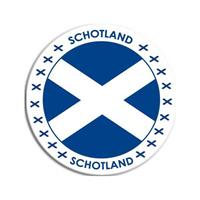 Shoppartners Schotland sticker rond 14,8 cm