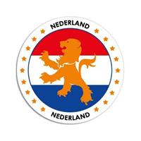 Shoppartners Nederland sticker rond 14,8 cm