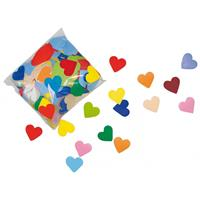Bellatio Gekleurde hartjes confetti 250 gram