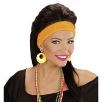 Bellatio Disco oorbellen neon geel