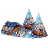 Feesthoedjes piratenfeestje 6 stuks
