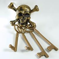 Bellatio Set piraten sleutels met doodshoofd