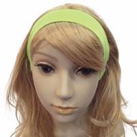 Bellatio Neon groene haarband