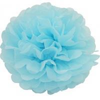 Bellatio Lichtblauwe decoratie pompom 25 cm