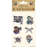 Bellatio Piraten tattoos 6 stuks Multi