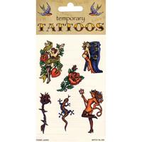 Bellatio Biker tattoos 6 stuks