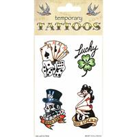 Bellatio Good luck tattoos 4 stuks