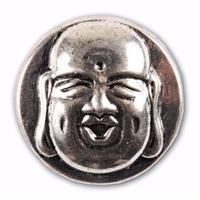 Bellatio Zilveren chunk boeddha 1,8 cm