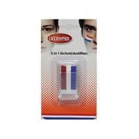 Bellatio Schmink stick rood wit blauw