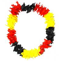 Hawaii krans zwart/geel/rood