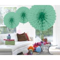 Decoratie waaier mint groen 45 cm