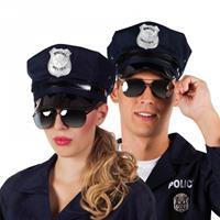 Bellatio Politie zonnebril zwart