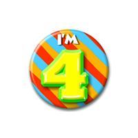 Bellatio Verjaardags button I am 4