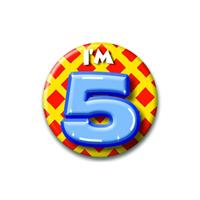 Bellatio Verjaardags button I am 5