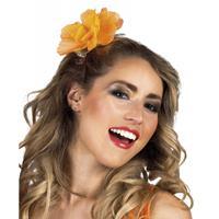 Bellatio Haarspeld met oranje bloem