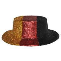 Bellatio Duitsland glitter hoed plastic