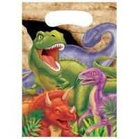 Bellatio Dinosaurus feestzakjes 8 stuks