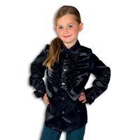 Rouches blouse zwart voor jongens