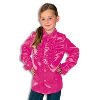 Rouches blouse roze voor jongens
