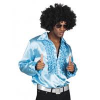 Bellatio Voordelige turquoise rouche blouse Turquoise