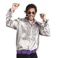 Bellatio Voordelige zilveren rouche blouse Zilver