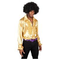 Bellatio Voordelige gouden rouches blouse Multi