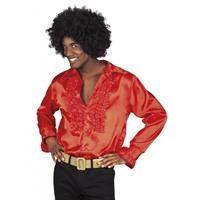 Bellatio Voordelige rode rouche blouse Rood