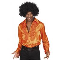 Bellatio Voordelige oranje rouche blouse Oranje