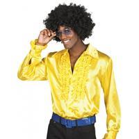 Bellatio Voordelige gele rouche blouse Geel