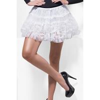 Smiffys Witte kanten petticoat voor dames