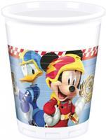Disney feestbekers Mickey Mouse 200 ml blauw 8 stuks