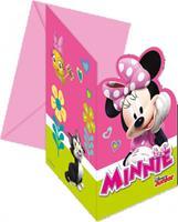 Disney Uitnodigingskaartjes Minnie Mouse