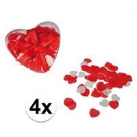 Rode hartjes bad confetti 80 gram