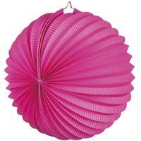 Bellatio Lampion fuchsia roze 22 cm