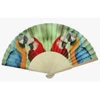 Bellatio Spaanse handwaaier met papegaaien