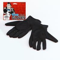 Zwarte korte handschoenen voor volwassenen