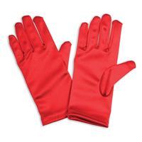 Rode satijnen handschoenen voor kinderen