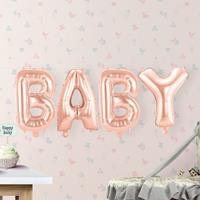 EzyDog Set Rosé Goudkleurige Folieballonnen 'BABY'