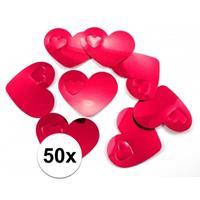 50x mega confetti rode hartjes