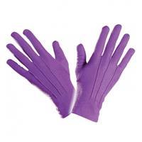 Bellatio Paarse handschoenen kort